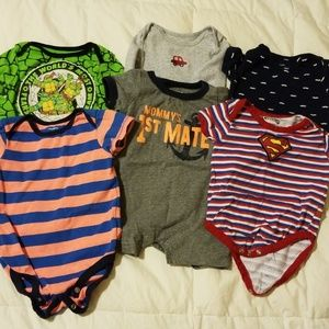 Baby boy onesie tshirts most of them are size 6/9